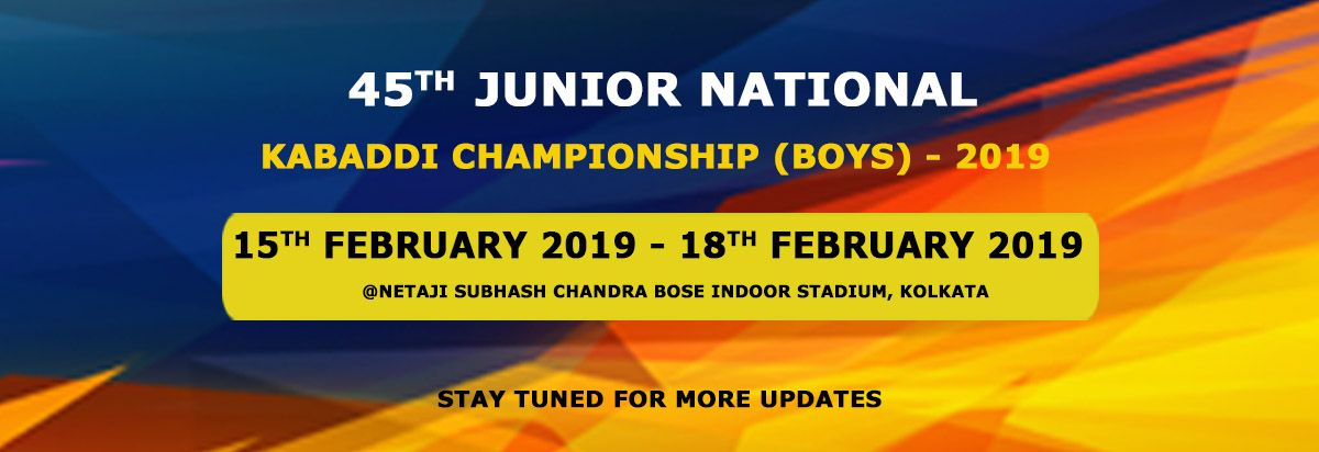 Junior National Kabaddi Chamionshim -Boys