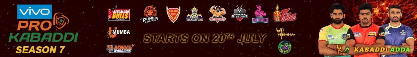 Pro Kabaddi League Season 7 Desktop Banner