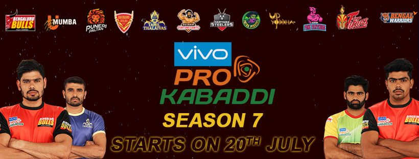 Pro Kabaddi League Season 7 Mobile Banner