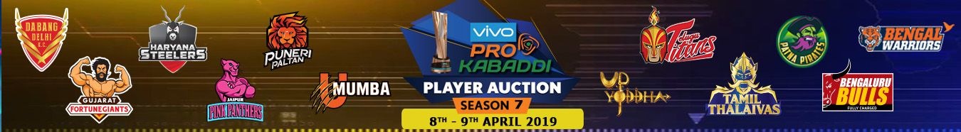 Pro Kabaddi League Season 7 Auctions 2019