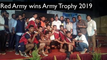 red army wins army trophy